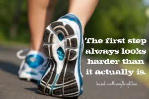 The first step is the hardest.